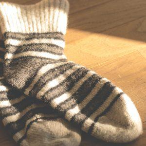 Men Ablution Leather Socks